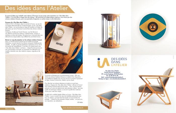 publication magazine Maison actuelle
