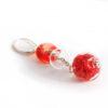 boucles d'oreilles en verre soufflé rouge
