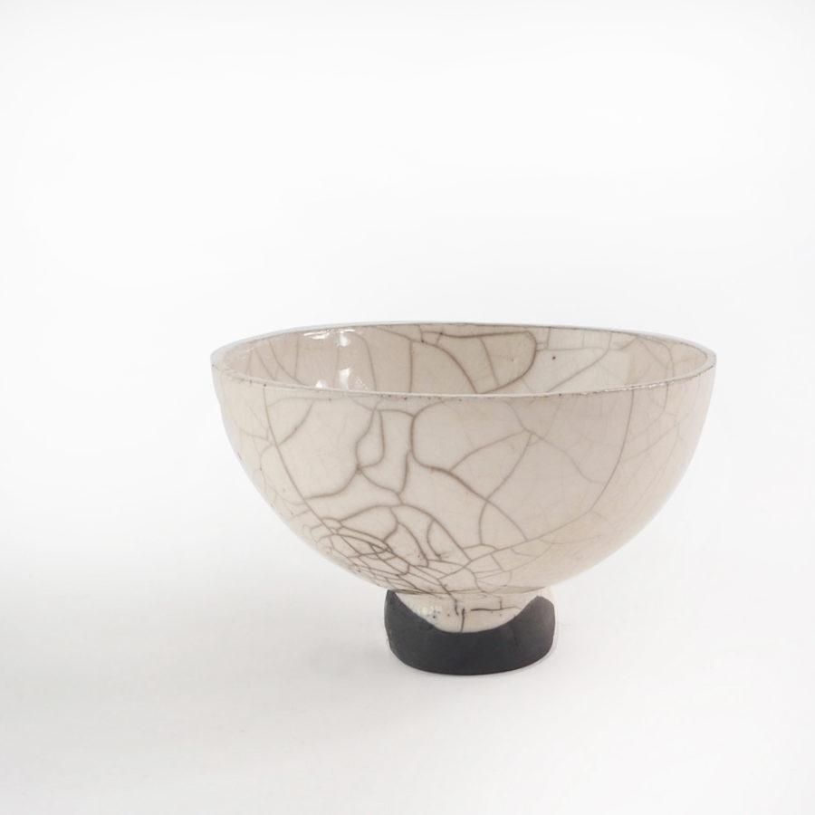 bol sur pied en céramique collection fuji vue coté