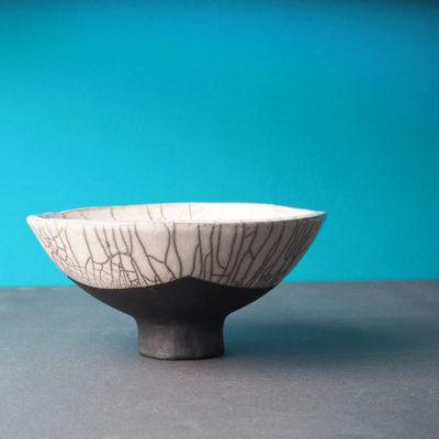 coupe en céramique raku de la collection fuji
