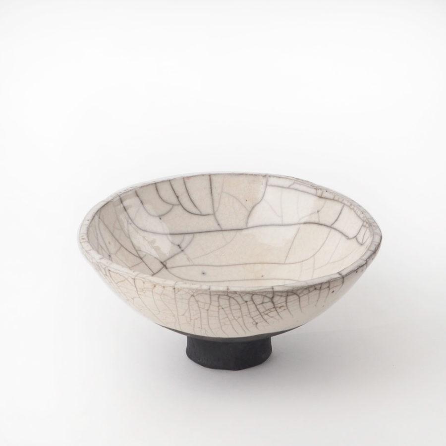 coupe en céramique émaillée raku collection fuji
