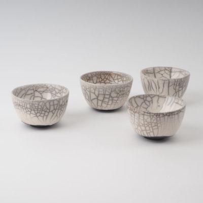 service de 4 tasses céramiques collection Fuji