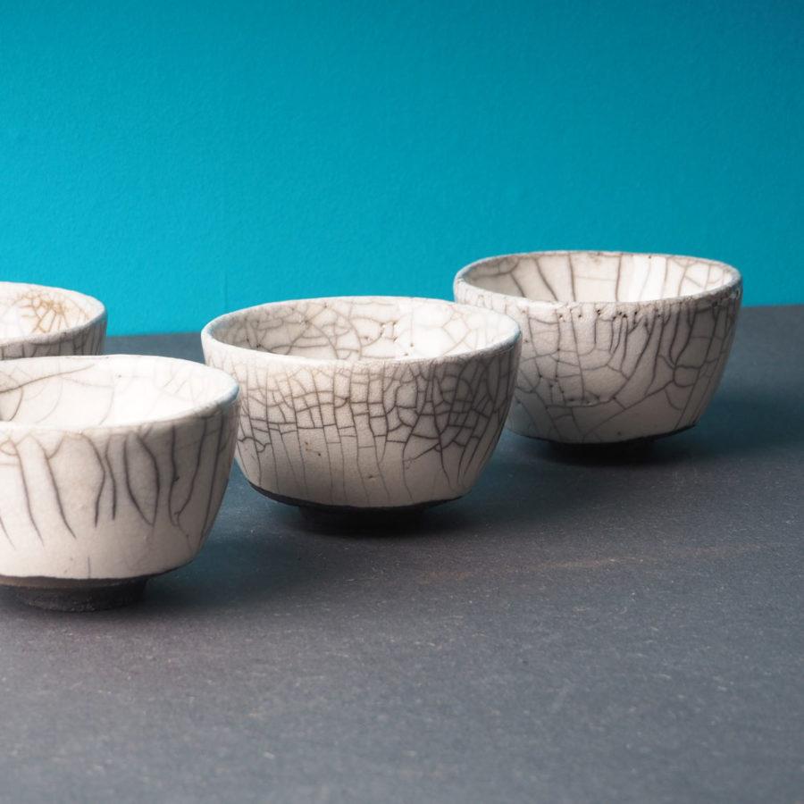 service de 4 tasses en céramique collection Fuji