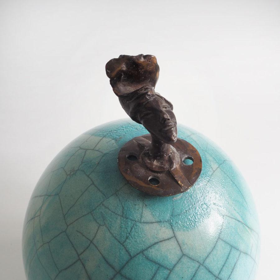 sculpture céramique ahou vue tête