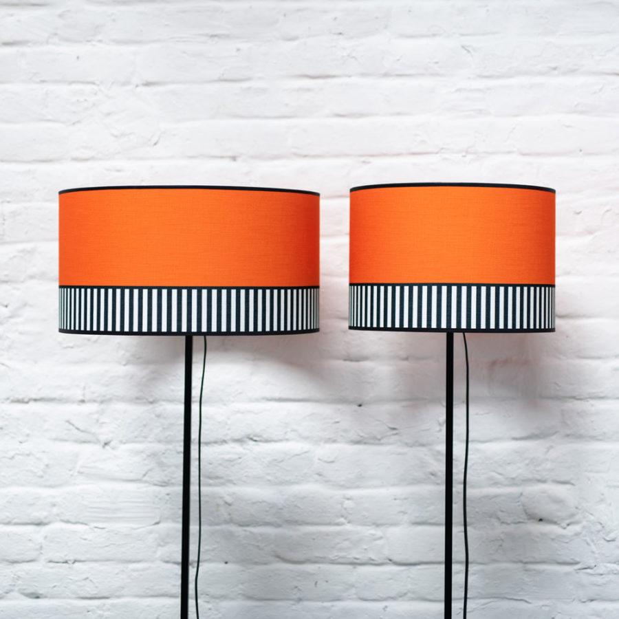 abat-jour tissu Lampion orange