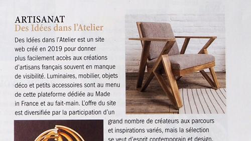 extrait article dans le magazine campagne chic&broc