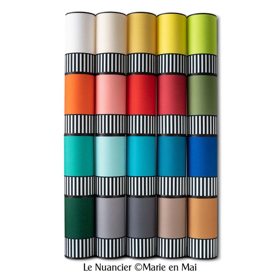 nuancier couleurs de la collection lampion