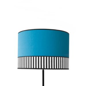 Abat-jour tissu Collection Lampion bleu canard