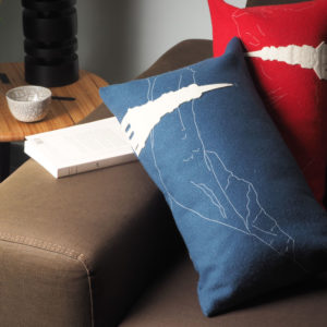 coussins artisanaux tissu pure laine