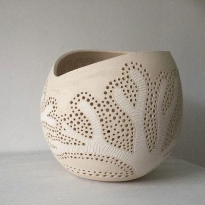 Lampe à poser en céramique atelier Sophie Chemin