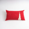 coussin rouge artisanal pure laine