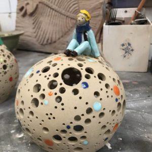 lampe en céramique petit prince atelier Camille Fourmaintraux