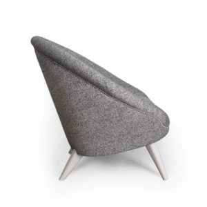 fauteuil kiwi gris vue de coté