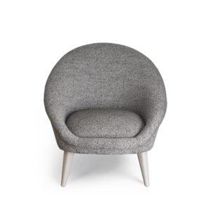 fauteuil kiwi gris vue de face
