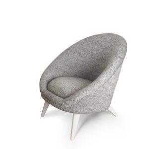 fauteuil kiwi gris vue de profil