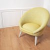 fauteuil kiwi jaune pale made in France