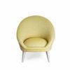 fauteuil kiwi Alga de couleur jaune pale vue de face
