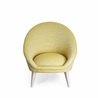 fauteuil kiwi jaune pale vue face