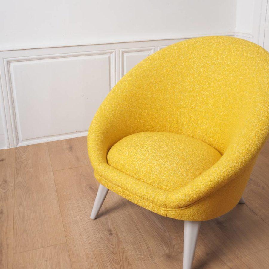 fauteuil kiwi jaune salon