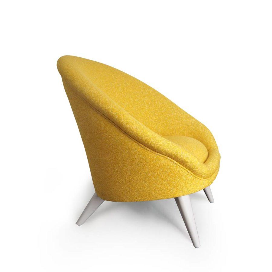 fauteuil kiwi jaune vue de coté