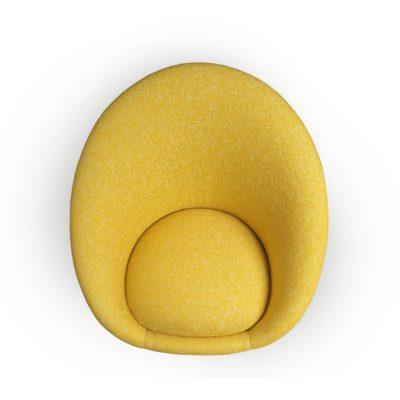 fauteuil kiwi jaune vue de dessus