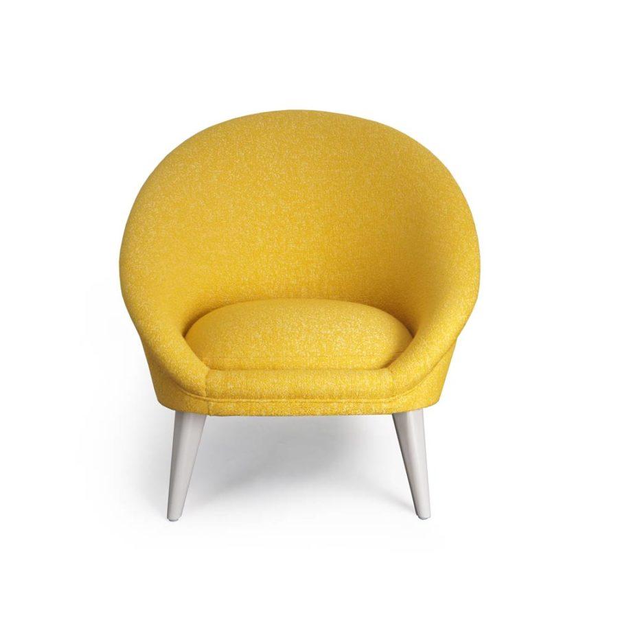 fauteuil kiwi jaune vue de face