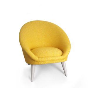 fauteuil kiwi jaune vue de profil
