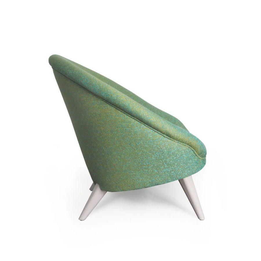 fauteuil kiwi vert clair vue coté
