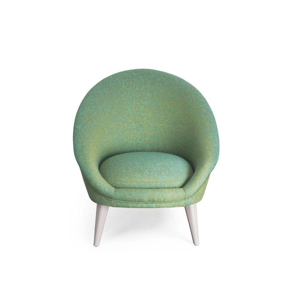 fauteuil kiwi vert clair vue face