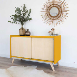 commode enfilade Lina couleur moutarde