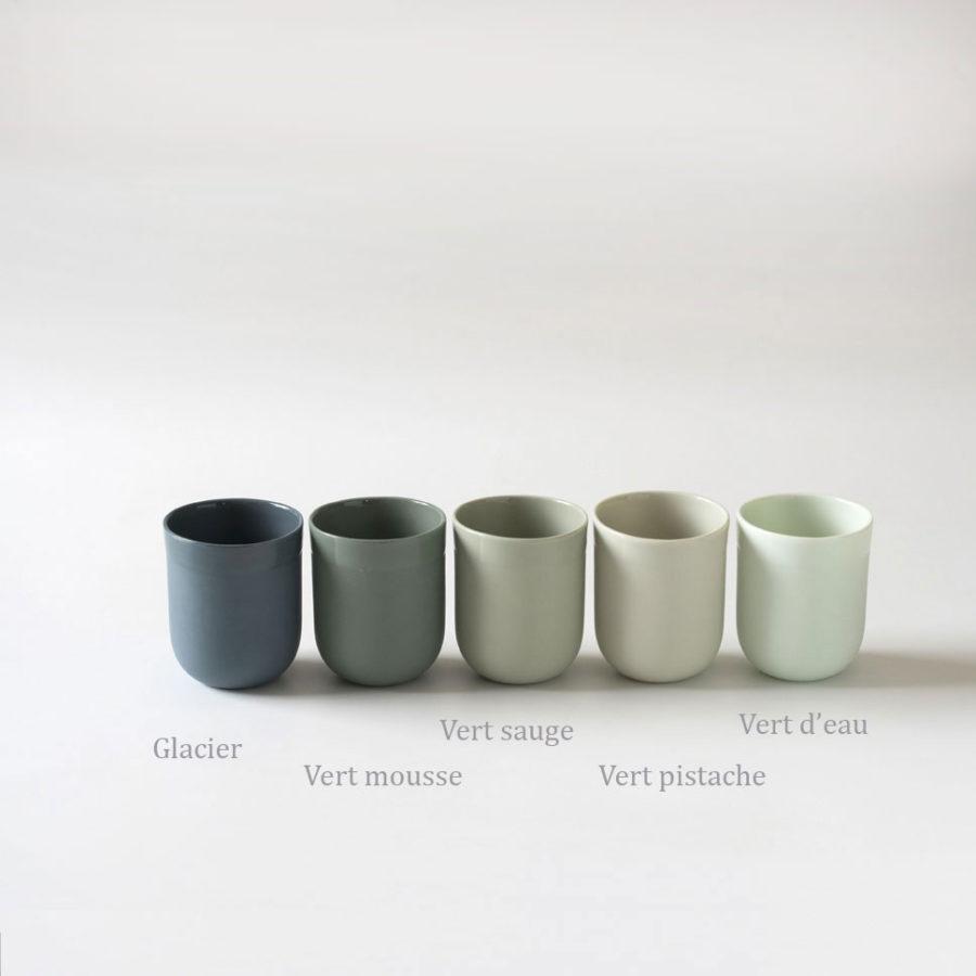 Timbales en porcelaine Armel différents coloris