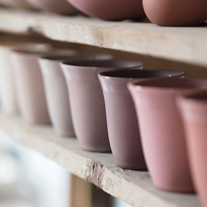 étale avec timbales en porcelaine tulipe