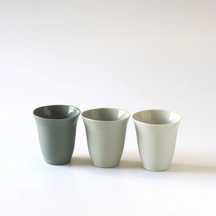 les timbale en porcelaine tulipe couleur verte