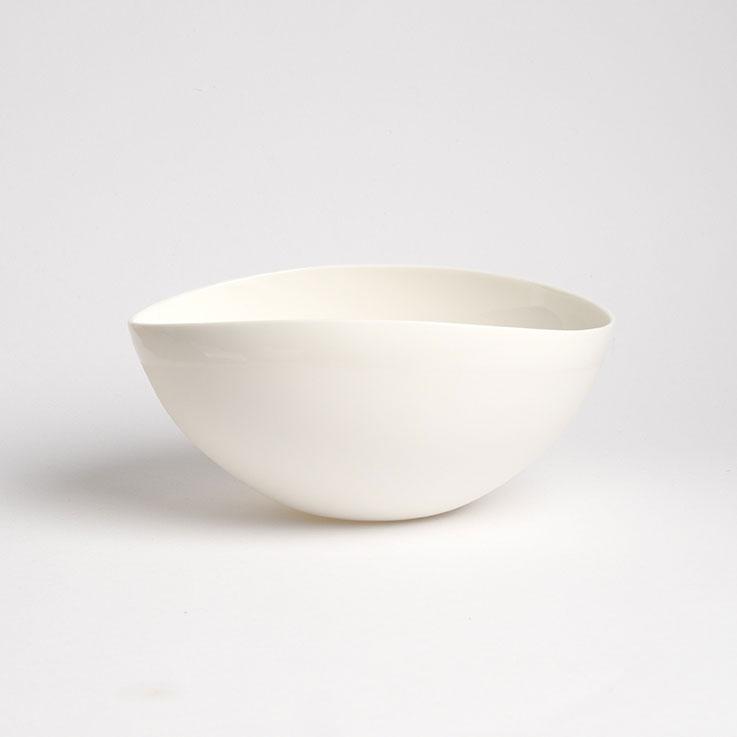 saladier en porcelaine inuit couleur neige
