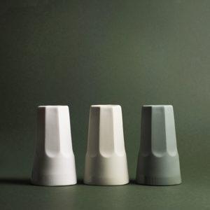 timbales en porcelaine col