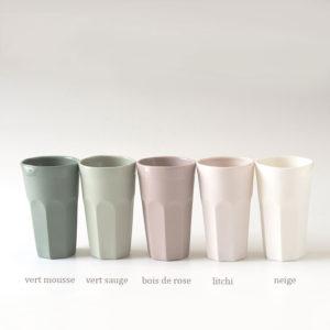timbales en porcelaine col palette de coloris