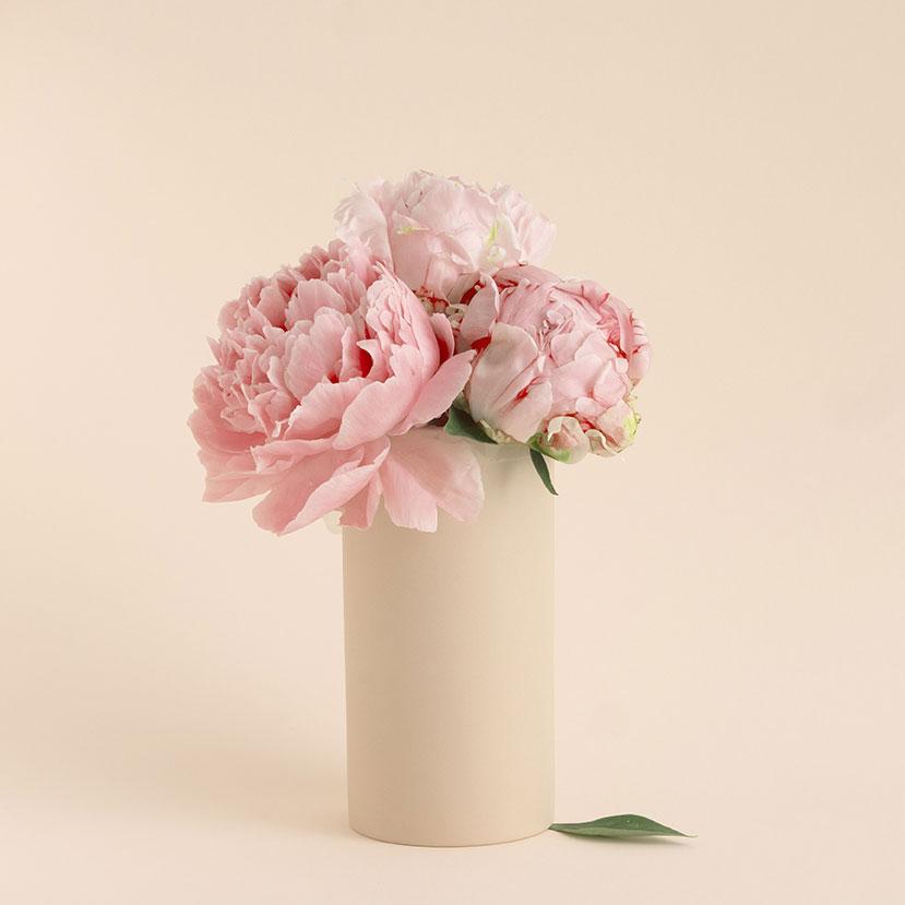 vase en porcelaine gaelle couleur poudre de riz