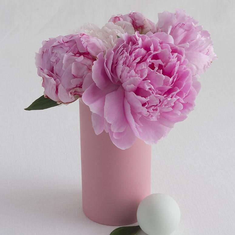 vase en porcelaine gaelle couleur rose babe