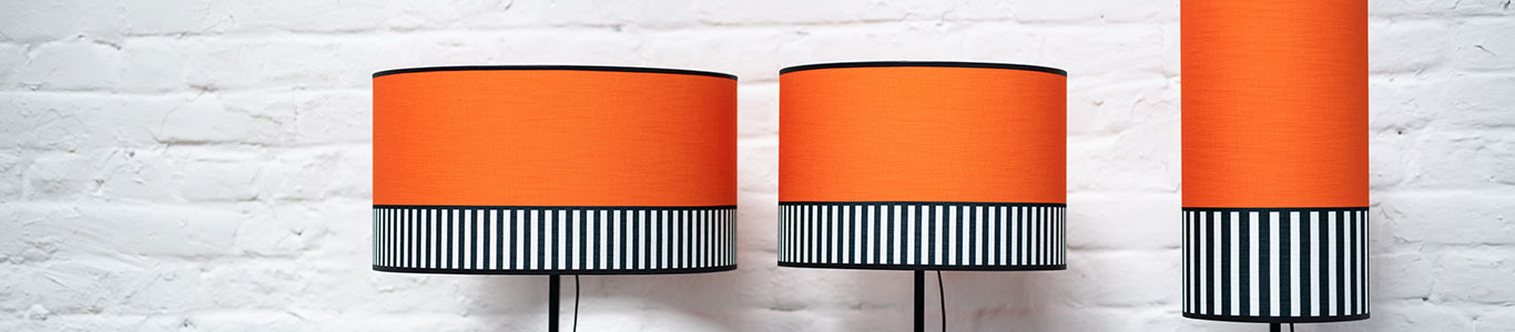 les abat-jour lampion couleur orange