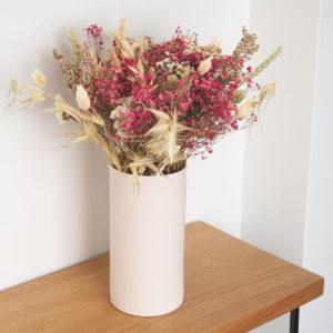 bouquet de fleurs séchées rosée