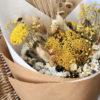 détail bouquet de fleurs séchées Ananas