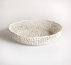 Coupe basse en dentelle de porcelaine